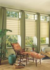 Florida Room in Lake Worth Florida Palm with Hunter Douglas Vignette Modern Roman Shades