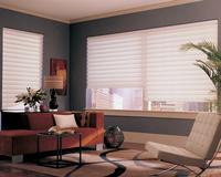 Hunter Douglas Vignette Modern Roman Shades/Blinds in the Hobbled Version-- West  Palm Beach Florida City View