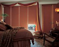 Vignette Modern Roman Shades/blinds in Blackout/Room darkening version-- Coordinating poor boy casual top treatment-- Royal Palm Beach Florida