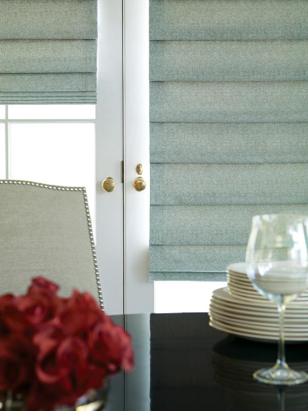 Fabric Custom Flathobbled Roman Shadesblinds Innovative Window