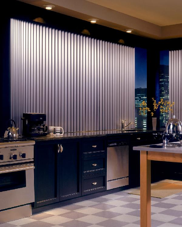 Vertical Blinds For Kitchen Window Design Ideas