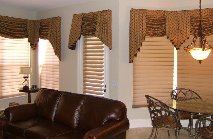 Superior Window Treatments West Palm Beach Part - 6: Hunter Douglas Sheer Silhouette Shades-Blinds With Swag Top Treatment --  Breakers West,